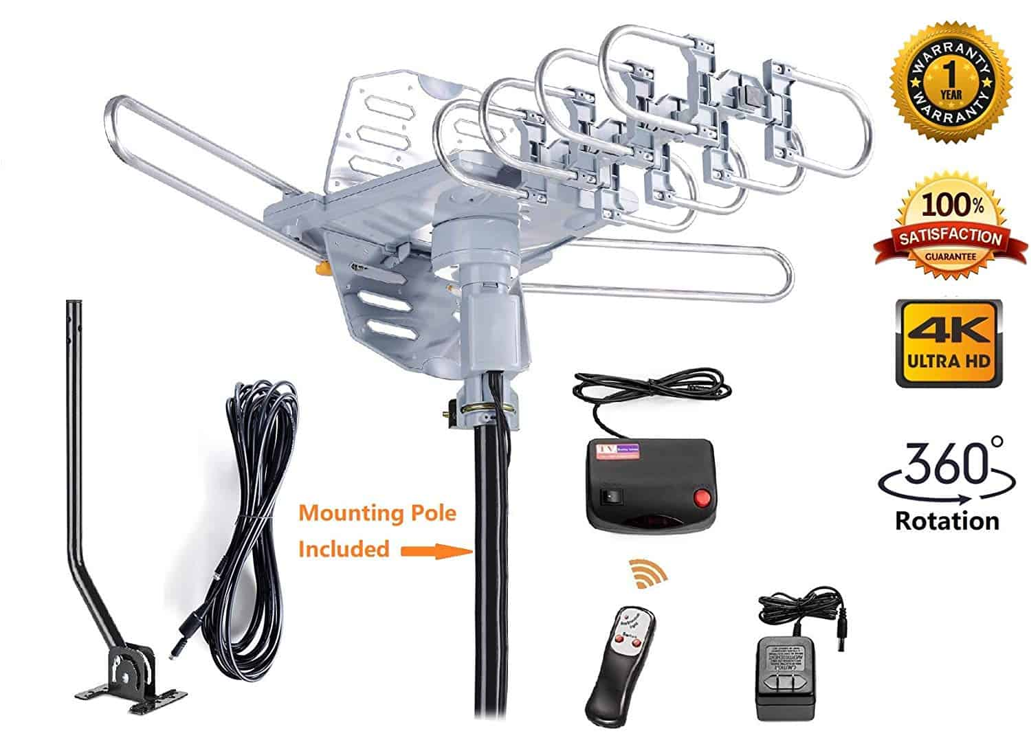 The McDuory HDTV Amplified Digital Outdoor Antenna